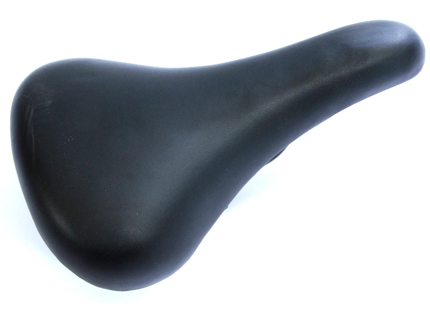 Basic Black Soft Seat Covered Adult Saddle & Clamp