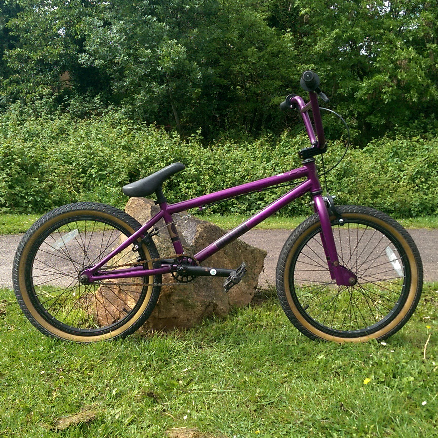 "Diamondback Ampt 20"" Purple BMX Bike"