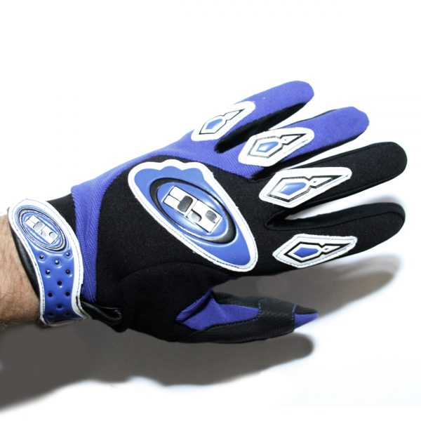 Savage Components Flite Blue Full Finger Cycling Gloves