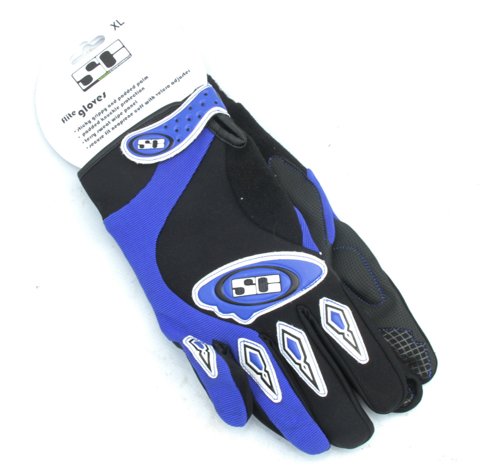 Savage Components Flite Blue Full Finger Cycling Gloves XL