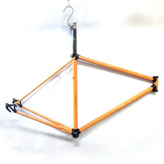 """Elswick Puma 21"""" Road Frame - Repainted Lotus Dutch Orange & Black"""