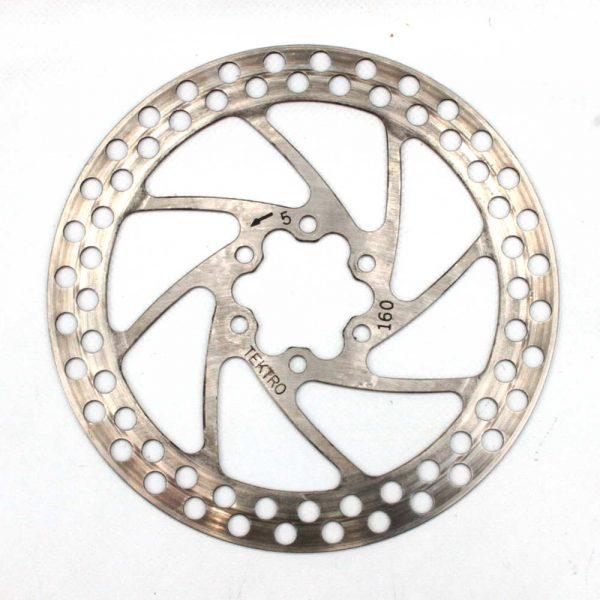 TEKTRO Round 160mm Silver Disc Rotor 6 Bolt