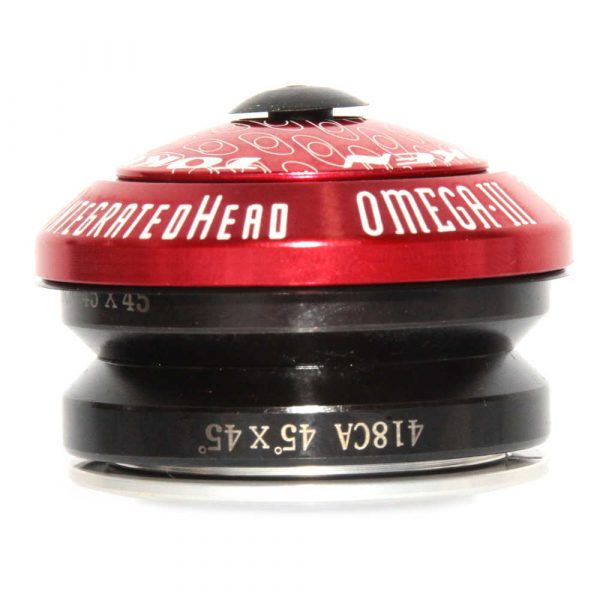 Token Arsenal OMEGA-A3 Red 1-1/8″ CNC Alloy Integrated Headset 45×45