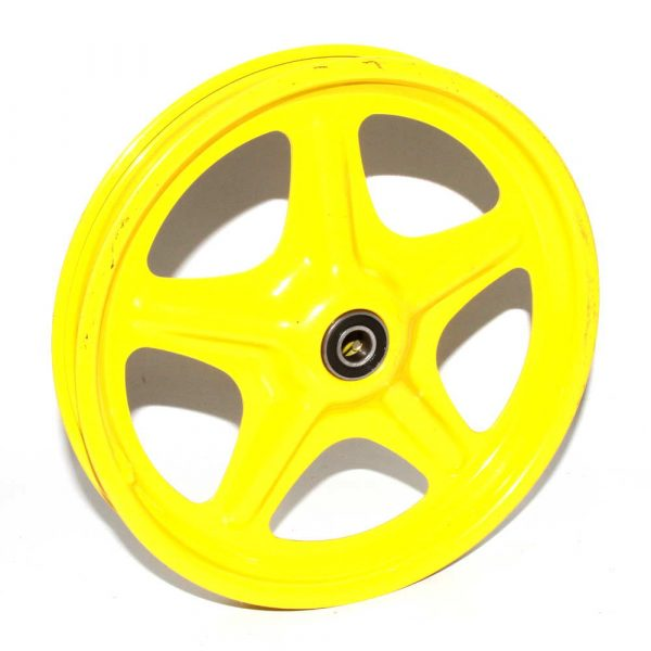 10″ Yellow Wheel Schrader Rim Steel 5 Spoke