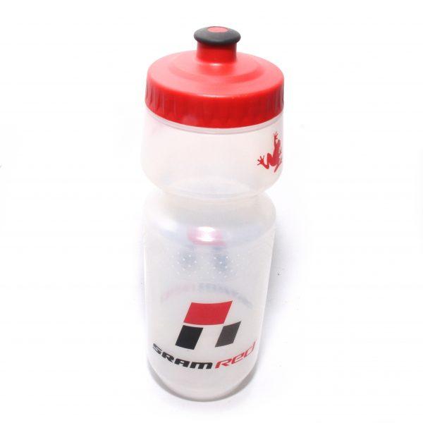 SRAM RED Bike Bottle Large Clear Black Red Frog Logo