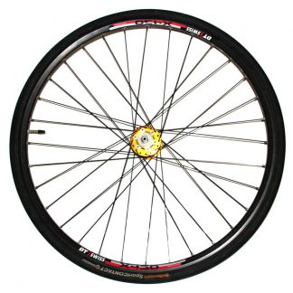 DT Swiss X 430 Black Spokes 32H Rim on Sealed Gold QR IS Disc Hub Front Wheel Only
