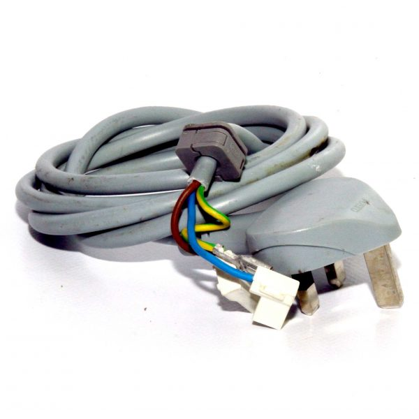 Logik L612WM15 Washing Machine Spare Part 240V UK Mains Lead Moulded Plug Terminated