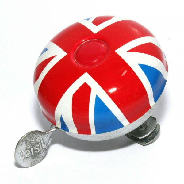 Persil Union Jack Bicycle Metal Ringer Traditional Style British Bell 60mm