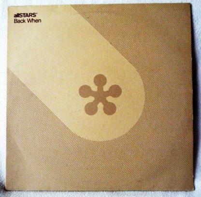 """allSTARS - Back When 12"""" Vinyl"""