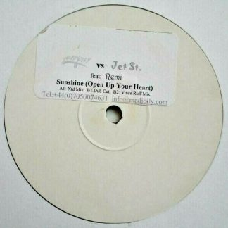 """Madjolly vs. Jet St.* Feat. Remi (3) – Sunshine (Open Up Your Heart) 12"""" Vinyl"""