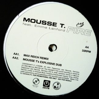 "Mousse T. feat. Emma Lanford - Fire 12"" Vinyl"