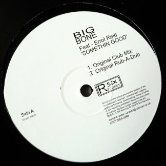 "Big Bone feat. Errol Reid - Somethin' Good 12"" Vinyl"
