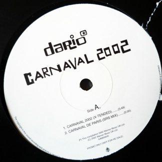 """Dario G - Carnival 2002 12"""" X-Tended Vinyl"""