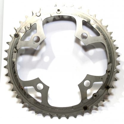 Shimano 4 Bolt 104 BCD 44T Mega 9 SPD Alloy Compact Outer Ring Silver