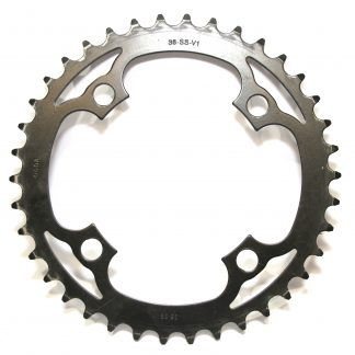 Truvativ 38-SS-V1 38T 4 Bolt Road Chainring - 104mm BCD Single Speed Ring Gear Black