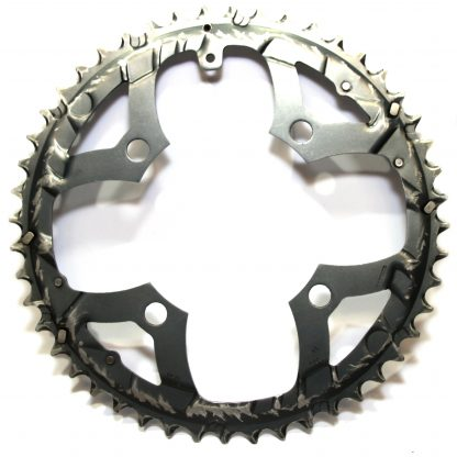 Shimano SG-X 4 Bolt 104 BCD 48T Mega 9 SPD Alloy Compact Outer Ring Dark Grey