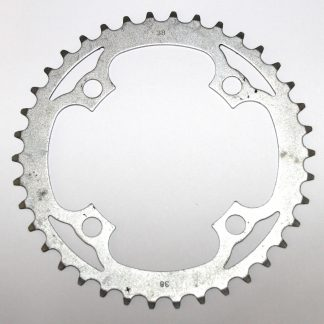 Truvativ 38-SS-V1 38T 4 Bolt Road Chainring - 104mm BCD Single Speed Ring Gear Silver