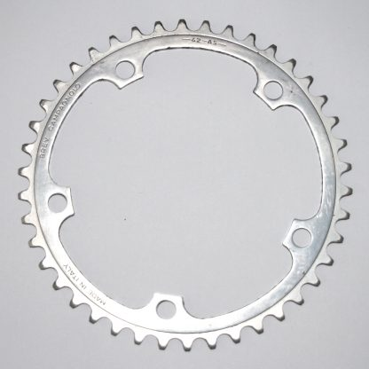 Campagnolo 42 AS 9 Spd 5 Bolt Chainring 42T Outer Ring 135BCD Gear Silver