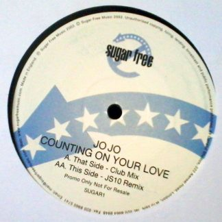 "Jo Jo - Counting On Your Love 12"" Vinyl Club Mix JS10 Remix Record"