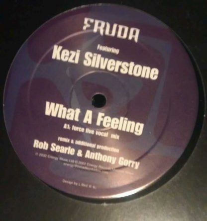 "Fruda feat Kezi Silverstone What A Feeling Dub Mix Vinyl Record 12"" EP"