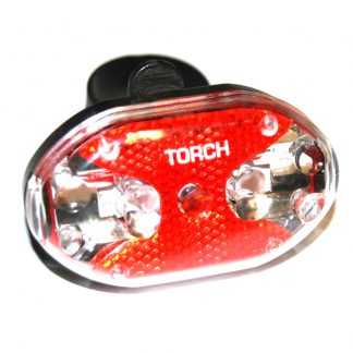 TORCH Bike Light 9 LED Rear Red 4 Modes
