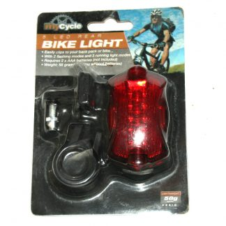 Bike Light 5 LED Rear Flashing Modes MY CYCLE