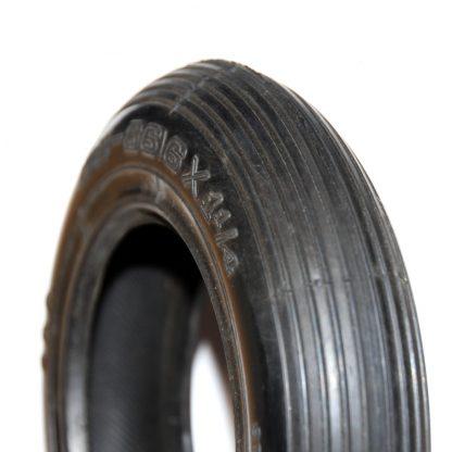 "Impac IS 300 (Design: 6"" x 1 1/4 (32-86) Black Rib Tread Mobility Scooter Wheelchair Tyre"