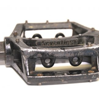 "Seventies Wellgo Black Alloy Right Pedal 1/2"" BMX Replaceable Pins V8 Copy 90's BMX"