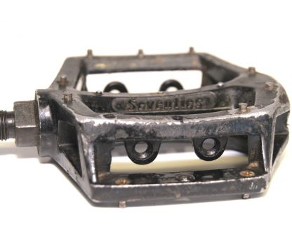 "Seventies Wellgo Black Alloy Right Pedal 1/2"" BMX Replaceable Pins V8 Copy 90's BMX"