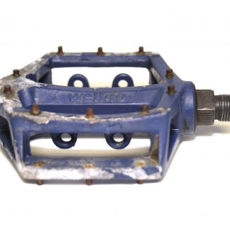 "Wellgo LU-313 K79 Blue Alloy Spare Left Pedal 9/16"" BMX V8 Copy"