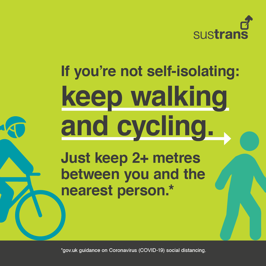 SUSTRANS KEEP ON CYCLING CORONAVIRUS COVID-19 ADVICE