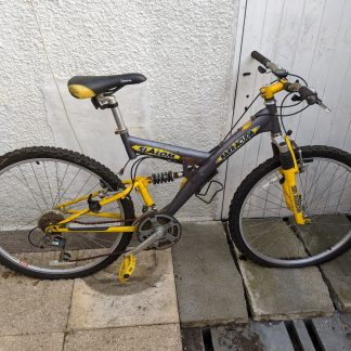 "Barracuda Slalom 26"" Full Suspension MTB Yellow"