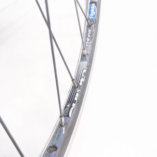 "700c 622 29"" Rigida Chrina Alloy Road Front Wheel Polished Silver QR"