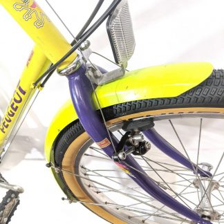 "Wide Retro Fluro Yellow MTB Mudguards 26"" Full Length"