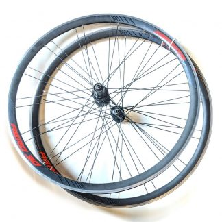 700c Merida Aero 30 QR Shimano Road Wheelset Black Red