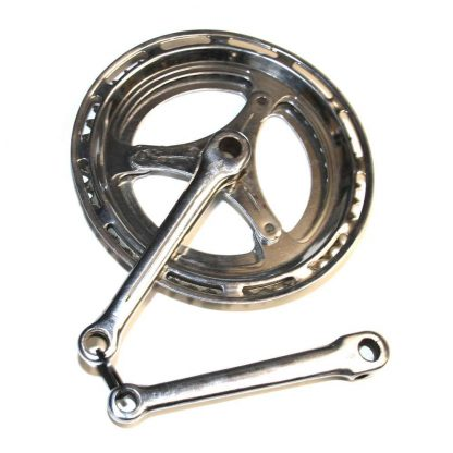 170mm Cottered Steel Double Chainset with Metal Guard