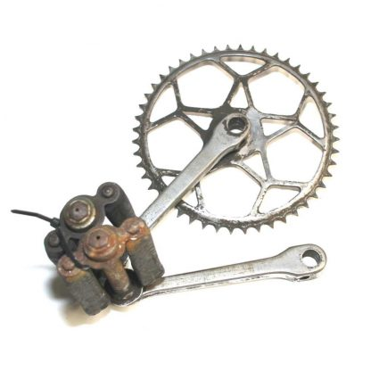 170mm Cottered Steel Single Chainset with Pedals