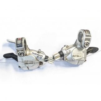 SRAM X-9 Shifters Pair 3 x 9 Speed Silver 2006