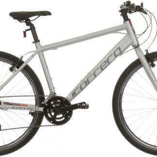 Carrera Parva Mens Hybrid Bike - Silver 346142