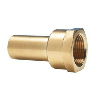 John Guest Female Brass Stem Adaptor 15mm Male Push Fit to Threaded Female