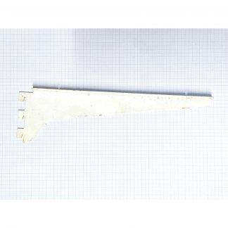 25.4mm / 12.5mm Spur T-Slot Shelving Brackets White 27 cm Right
