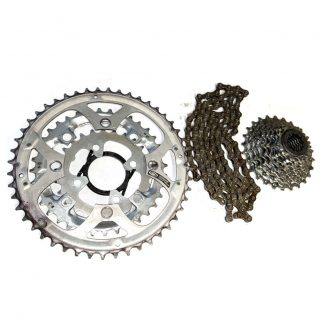 Shimano SG-X 48/36/26T Chainrings 4-Bolt 104BCD Shimano CN HG-73 Chain, 9 Speed SRAM PG950, 11-26T, 9 speed Cassette